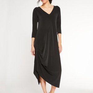 NWT Sympli Jersey Ruched Reversible Drama Dress